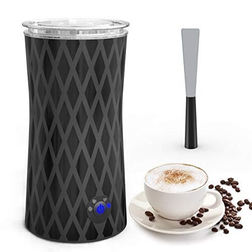 Elektrischer Milchaufschäumer, morpilot MilchschäumerAutomatisch |Milk Frother|Milchwärmer, eine Taste von 4 Modi für Dichte & Flüssige Warme & Kalte Milchschaum|Milch Erwärmen, 400W 240ml