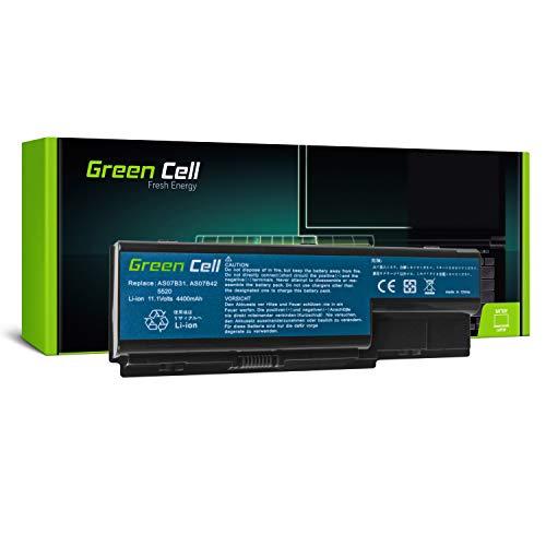 Green Cell® Standard Serie Batería para Packard Bell EasyNote LJ61 LJ63 LJ65 LJ67 LJ71 LJ73 LJ75 LJ77 Ordenador (6 Celdas 4400mAh 10.8V Negro)