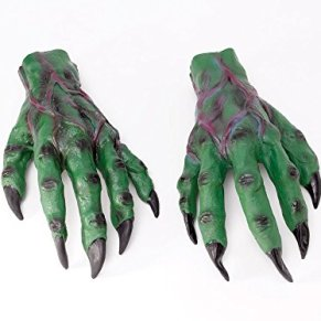 Bristol Novelty - Manos de diablo guantes para disfraz de terror