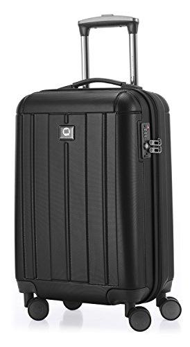 HAUPTSTADTKOFFER - Kotti - 2er Koffer-Set Trolley-Set Rollkoffer Reisekoffer, TSA, (S & L), Schwarz matt - 2