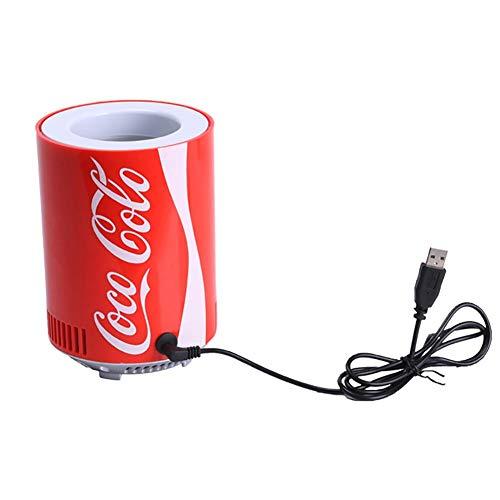 Brownrolly Frigorifero Portatile per Auto, Coca-Cola Mini frigo Frigorifero USB, Refrigeratore per...