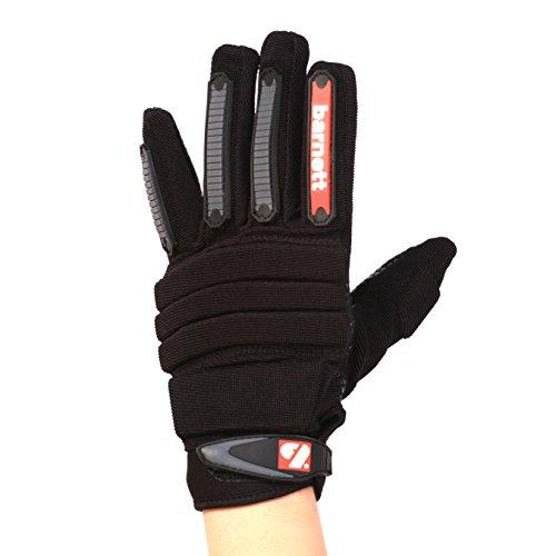 FLG-02 paio di guanti da football americano da lineman nuovo fit, NERI (XL)
