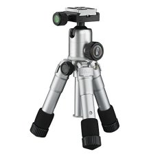 Mantona 21185 Digitales / cámaras de película 3leg(s) Plata tripode - Trípode (Digitales / cámaras de película, 5 kg, 3 pata(s), 49,5 cm, Plata, Sistema de bloqueo por giro Twist Lock o Sistema de cierre tipo rosca Twist Lock)