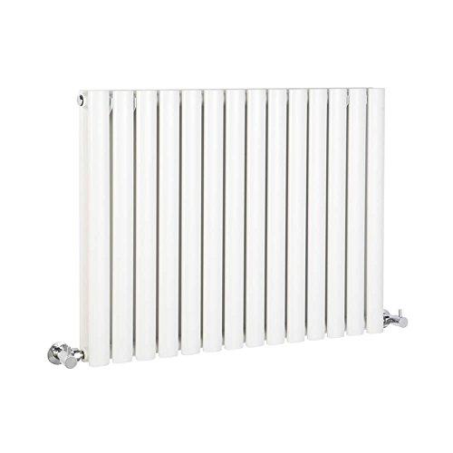 Hudson Reed Vitality - Radiateur Design Horizontal - Blanc - 63,5 x 83,4cm Double Rang