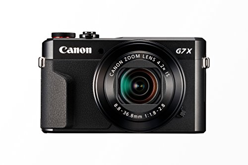 "Canon PowerShot G7 X Mark II - Cámara digital compacta de 20.1 MP (pantalla de 3"", apertura f/1.8-2.8, zoom óptico de 4.2x, video full HD, WiFi), color negro"