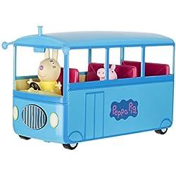 Peppa Pig- Autobús del Cole, Color Azul, (Bandai 92637)