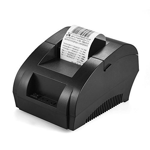 Aibecy POS-5890K Stampante 58 Millimetri Ricevuta Fattura Biglietto USB Termica POS Stampa Cassetto...