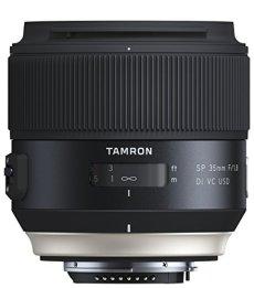 Tamron SP - Objetivo para Nikon DSLR (distancia focal fija 35 mm, apertura f/1.8, Di, VC, USD, diámetro filtro: 67 mm), negro
