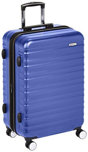 AmazonBasics - Trolley rigido Premium con rotelle pivotanti e lucchetto TSA integrato - 68 cm, Blu