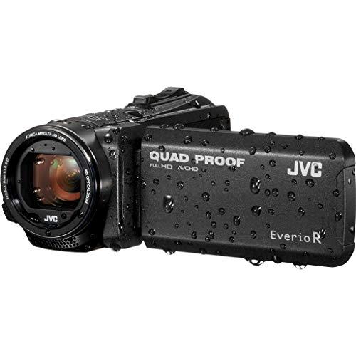 JVC GZ-R405BEU Videocamera Full HD QUAD PROOF, fotocamera 10 Megapixel, memoria integrata da 4GB, software in dotazione, Nero
