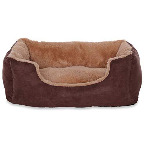 dibea DB00530, Letto per Cani, Divano morbido, Velluto, cuscino reversibile (S) 50 x 37 cm, beige/marrone