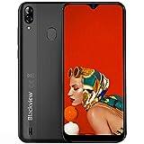 Blackview A60 Pro (2019) Smartphone débloqué 4G Ecran 6,1 Pouces Android 9.0, 3Go RAM+16Go ROM Dual SIM Téléphone Mobile Double caméra 8MP+5MP, Batterie 4080mAh - Reconnaissance Faciale & Fingerprint