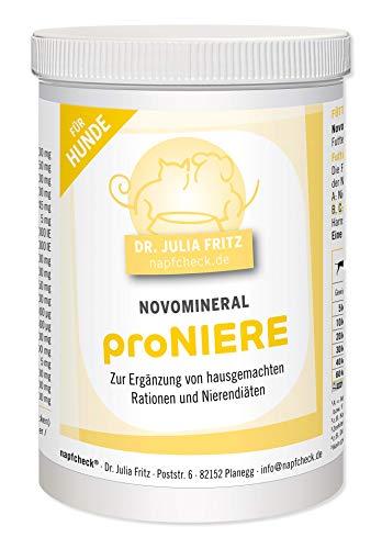 napfcheck Novomineral proniere - minerales, vitaminas y aminoácidos para Perros Enfermos de riñón y Ramas caseras - 250 g