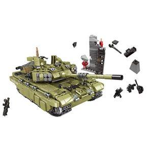MAJOZ 1386 Piezas Minifiguras y Tanque, Militares Soldado Armas ,Bloques de Construcción para Niños y Adulto