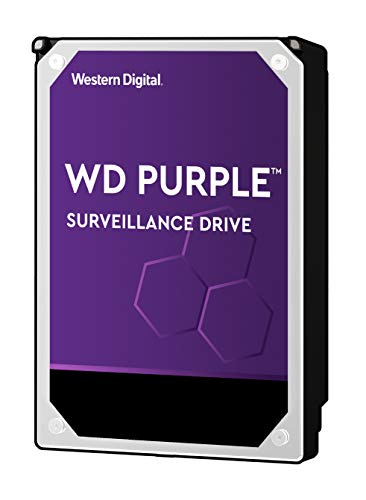 WD Purple Intellipower Hard Disk Drive per Videosorveglianza da 1 TB, 3.5', SATA 6 Gb/s, Cache 64...