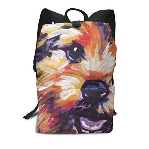 Homebe Painting Airedale Terrier Dog Art Zaino Casual,Borse Scuola,Zaino per la Scuola Travel Hiking...