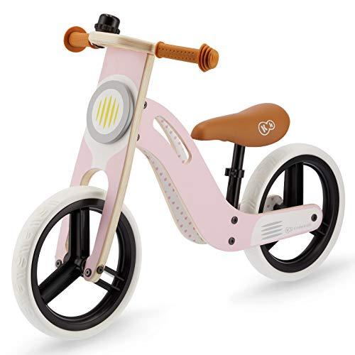 Kinderkraft Bicicletta UNIQ Bici in Legno Senza Pedali 12 Pollici Ruote Certificato di Sicurezza...