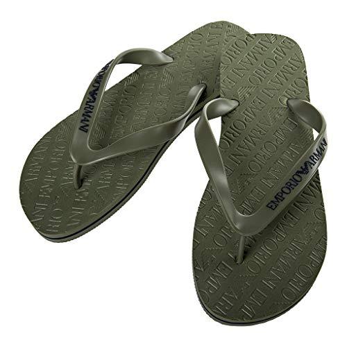 Emporio Armani Uomo Sandali da Bagno - Flip Flops (44 EU, Verde)