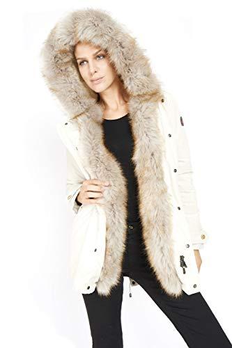 Dakota - Eskimo Donna Marmot - Parka Cappuccio Ecopelliccia Cappotto Inverno 2018 Moda Giacca Giubbotto ...
