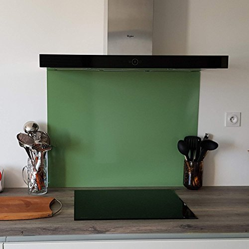 Credenza in alluminio verde pallido, altezza 40 cm x larghezza 50 cm
