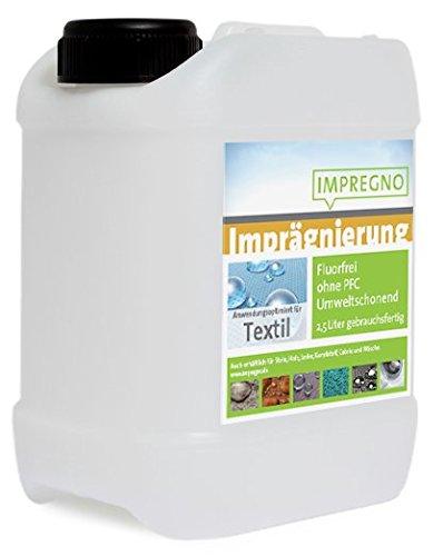 """IMPREGNO Imprägnierung \""""Textil\"""" 5 Liter Imprägniermittel Schutz Pflege fluorfrei umweltfreundlich waterproof"""