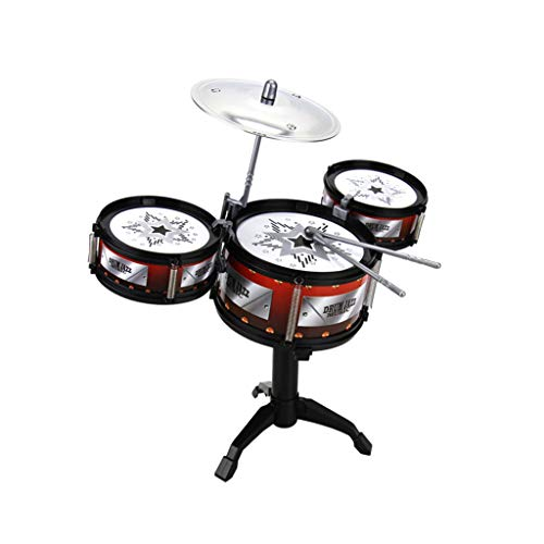 LINGLING-Tamburo Jazz Instrument Drums: Beat Drums Early Education Puzzle 3-6 anni (Colore : Red)