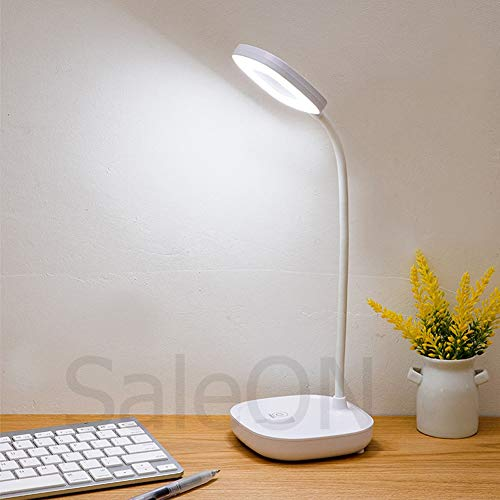 SaleON Rechargeable LED Touch On/Off Switch Desk Lamp Children Eye Protection Student Study Reading Dimmer Rechargeable Led Table Lamps USB Charging Touch Dimmer (Assorted-Colors) - 1248