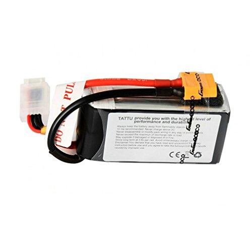 Tattu - Batteria ai polimeri di Litio,1550mAh 14,8V 45C 4S, per quadrirotori FPV Racing,...