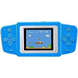 """ZHISHAN Kids Classic Retro Game Handheld Tragbarer Video-Konsole wiederaufladbar Player 2.5"""" cm LCD 8 Bit 268 in 1 Spiele"""