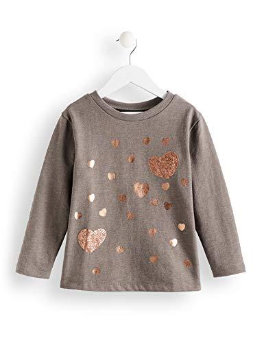 Red Wagon Grey Marl Sweat Dress, Camiseta para Niñas, Gris (Grey Marl),104 (Talla del fabricante: 4)