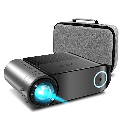 "Mini Beamer ELEPHAS, Nativ 720P HD 4000 Lumen Projektor 200"" LED Projektor, für Film Unterhaltung Spiele, unterstützt HDMI VGA AV USB Micro SD, Schwarz. MEHRWEG"
