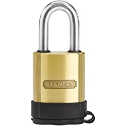 Stanley Hardware S828-194 CD8822 All-Weather Padlock - Solid Brass in Brass, 50mm Width
