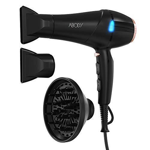 Abody Asciugacapelli Professionale Silenzioso 2300W, Phon per Capelli con Tecnologia a Ioni, 2 Velocità e 3 Temperature per un'Asciugatura Rapida e Styling a Lunga Durata Per i regali delle ragazze