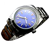 Tickwatch Parnis 36mm Blue Dial Automatic Mechanical Sapphire Crystal Stainless Steel Men's Mechanical Watch