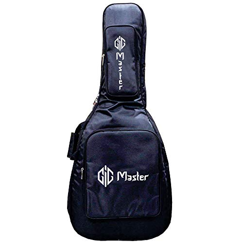 Gig Master Heavy Double Padded Bag / Cover /Case For All 38, 39, 40, 41 Inch Acoustic Guitars Like Yamaha Pacifica / Oscar Schmidt 12-Strings / Fender
