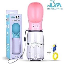 Bottiglia Acqua Per Cani,DryMartine Bottiglia Viaggio Portatile Per Cani 350ml Distributori d'acqua Fashion Color