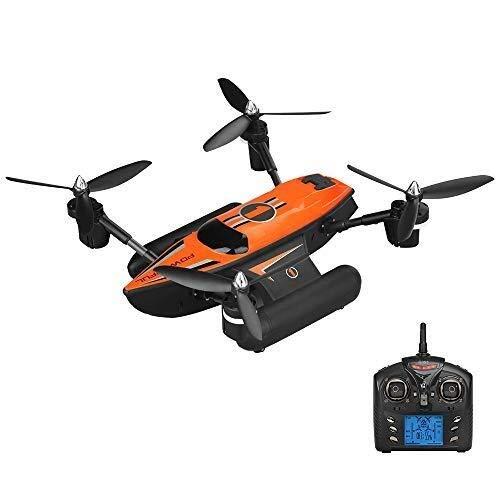 SXZHSM Drone modalità Marina Terrestre A 6 Assi, Drone Impermeabile A 4 Assi 3 in 1, Vibrazione 3D / modalità Senza Testa/Ritorno A Chiave Singola (Nero E Arancione), Arancione fuco