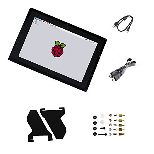 10.1inch B Capacitive Touch Screen HDMI LCD with EU Power Adapter Case IPS 1280*800 Windows 8.1/8/7 for Raspberry Pi2/3 Model B/B+ Supports Multi mini-PCs