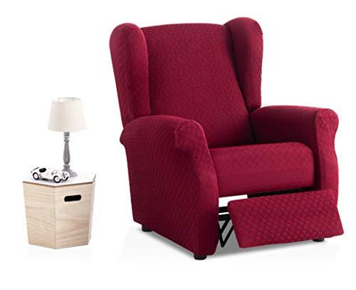 Funda de sillón Relax elástica Olivia - Color Granate - Tamaño estandar (Contáctanos para Mayor información)