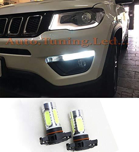 MOTOS Coppia LAMPADE DIURNE PSX24W LED CREE COB CANBUS Jeep Compass 2017 in Poi
