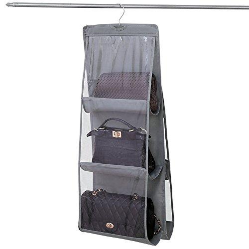 NNIUK Borsa organizzatore armadio con gancio 6 Tasche traspiranti Storage Bag Organizzatore per...