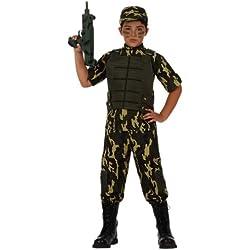 Atosa-10952 Disfraz Militar Color verde 5 a 6 años (10952