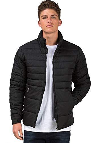 Ben Martin Men's Nylon Quilted Jacket (Black,Large)