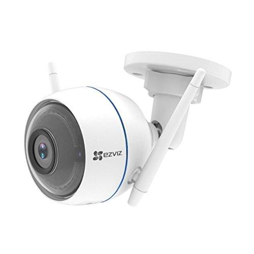 EZVIZ ezTube 720P Esterna Telecamera di Sicurezza con Night Vision, Difesa Attiva con Luce Stroboscopica e Sirena, Doppia Antenna Wi-Fi Estern, Audio a 2 Vie, Servizio di Cloud Disponibile