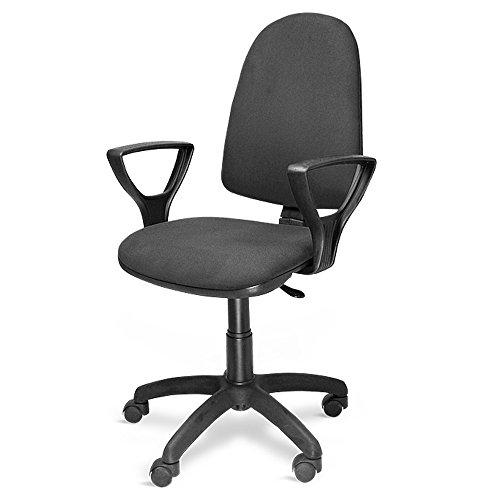 METALCHAISE Poltrona sedia ufficio con ruote altezza regolabile studio casa NERA 301/T/N