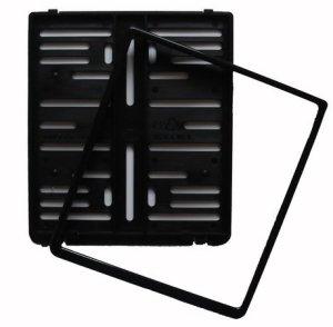 Kennzeichenhalter - Kennzeichenverstärker - Kennzeichenbefestigung aus Kunststoff für Motorrad, 180 x 200 mm, schwarz 1