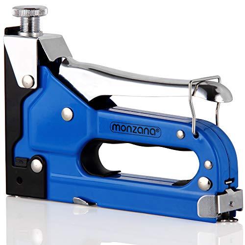 Monzana 3in1 Handtacker Set   Inkl. 500 x 8mm Rundrückenklammer   500x 12mm Heftklammern   500x 10mm Nägel   Heftgerät Nagler Klammergerät