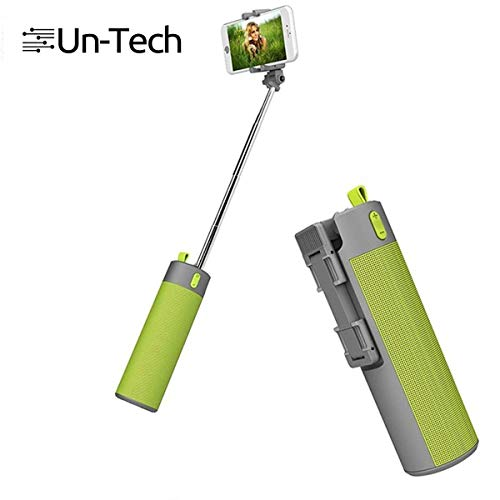UnTech Selfie Stick with Wireless Speaker and Power Bank of 2000 mAh Mobile Holder for All Smartphones (Multicolour)