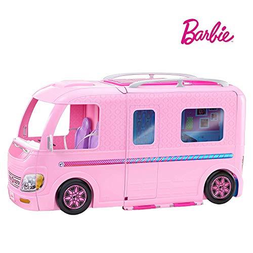 Barbie FBR34 Camper dei Sogni per Bambole con Piscina, Bagno, Cucina e Tanti Accessori, Giocattolo...