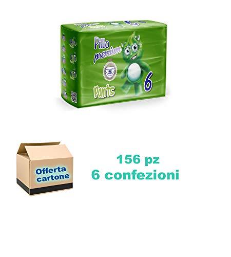 Pillo Premium PANTS Pannolini mutandina 16Kg+ 6 cf di 26pz/cad, 156 pannolini